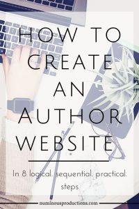 Author Website Overview laptop pinterest