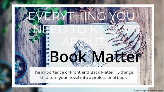 DIY Book Front Matter and Back Matter