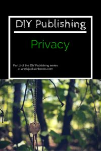 DIY Publishing Privacy key pinterest